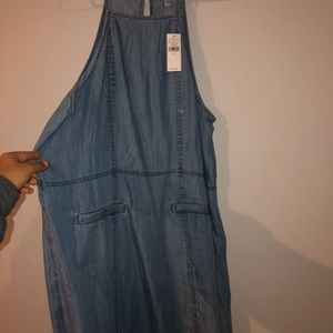 thin jean dress American Eagle size Large